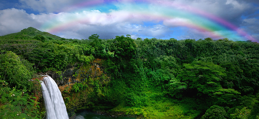 bigstock_Waterfall_in_Kauai_With_Rainbo_17464406c